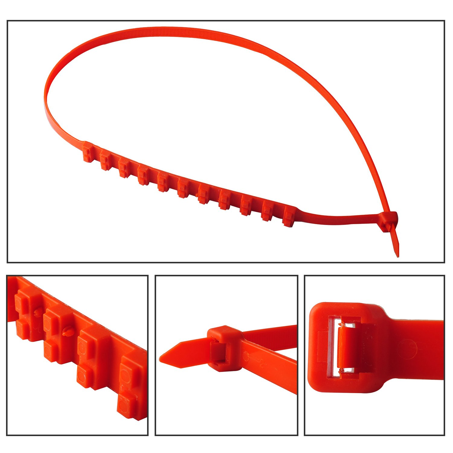 Wadoy Tire Chains Universal Winter Snow Type Portable Emergency Traction Aid Anti-Slip Chain for SUV Car Van ATV Jeep Honda Toyota Nissan VW Ford Mercede Benz BMW HTATMT Jeep Tyre 4350436029 10 PCS