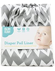 Bumkins Diaper Pail Liner Grey Chevron
