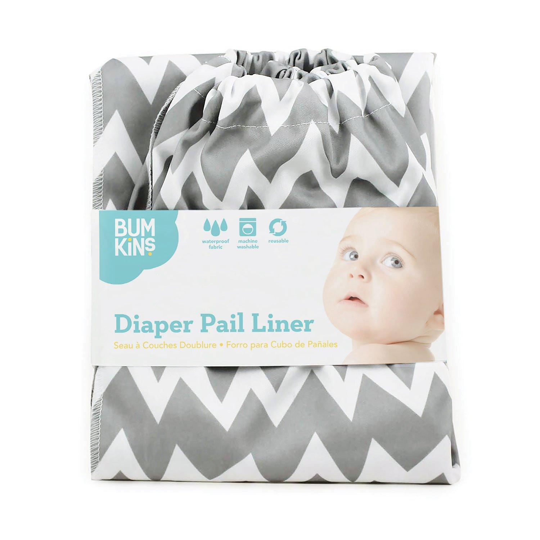Bumkins Diaper Pail Liner Grey Chevron PL-501