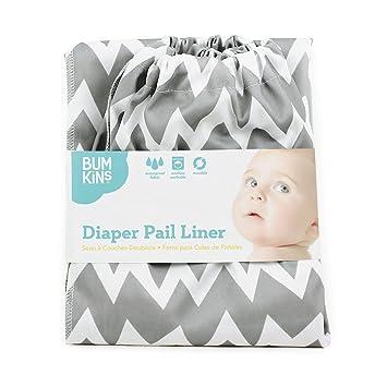 Bumkins Diaper Pail Liner, Gray Chevron