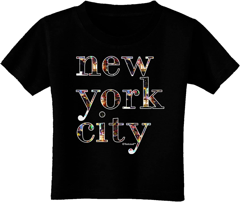 TOOLOUD New York City City Lights Toddler T-Shirt Dark