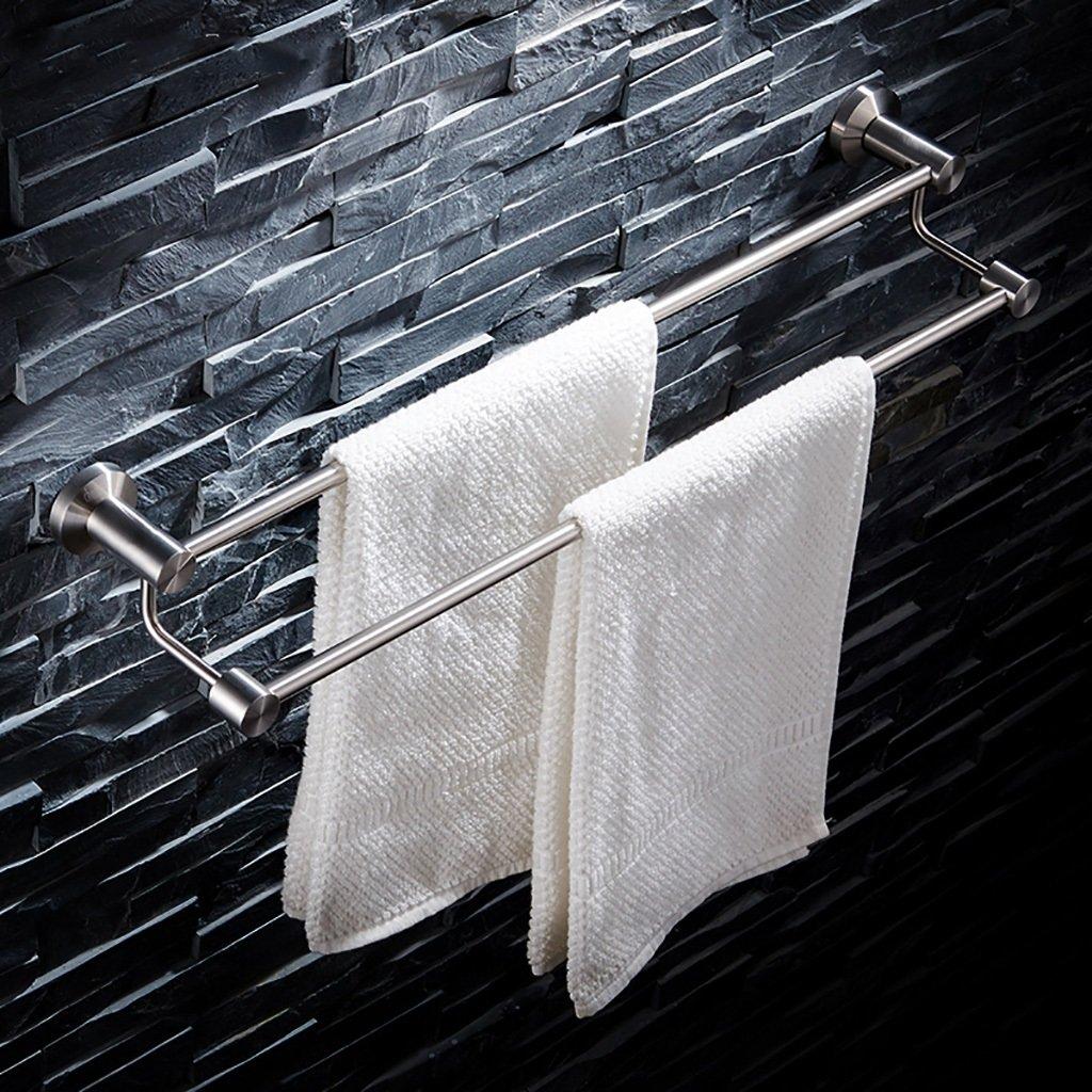 タオルラックウォールマウントウォールマウントステンレスタオルダブルポールタオルラックのドアの浴室のキッチン (サイズ さいず : 40.5cm) B07DDGX5CW 40.5cm 40.5cm