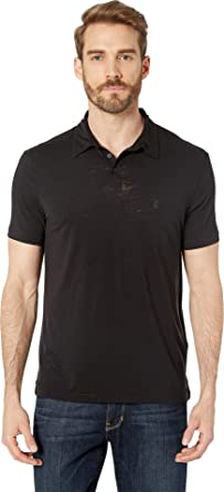 475da2e5a John Varvatos Star U.S.A. Men's Anton Short Sleeve Burnout Polo with Peace  Sign K4153V1B
