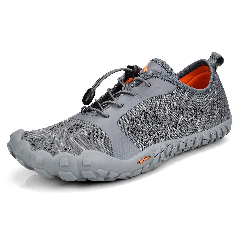 Troadlop Shoes for Men Minimalist Barefoot Shoes for Jogging Workout Trail Running Trekking Hiking Fitness Grey11.5 by Troadlop