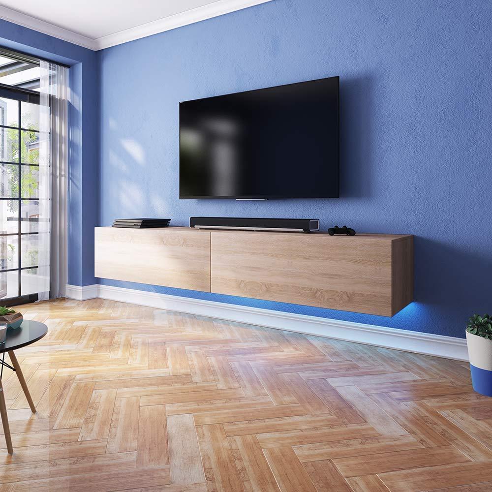 Fernsehschranktv Lowboard Mit Led Modern Hängend 200 Cm