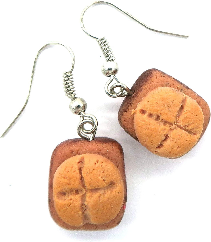 Leberk/äs Br/ötchen Ohrringe Ohrschmuck handmade Ohrh/änger