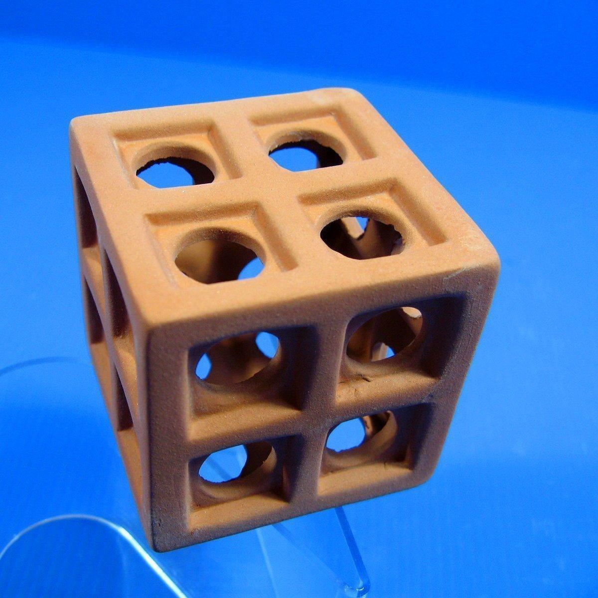 UP AQUA ceramica cubo cubo cubo barrier-Decorazione per acquari a forma di grotta, per terrario, razza cichlid DECOR per l'allevamento dei pesci c4d6d9
