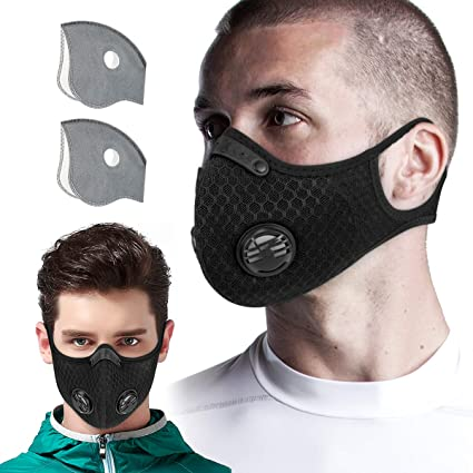Anti Dust Pm2.5 Mask Breathable Warm Mouth Masks With Double Filter Breathing Valve Suit For Women And Men Anti-fog Respirator Health Care