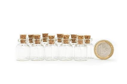 Viales de vidrio Mini en 10 paquetes de 1,5 ml de especias botella de