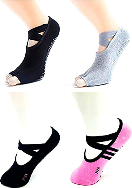 Yoga Socks for Women with Grip & Non Slip Skid for Barre Ballet Pilates Fitness Dance Workout Socks