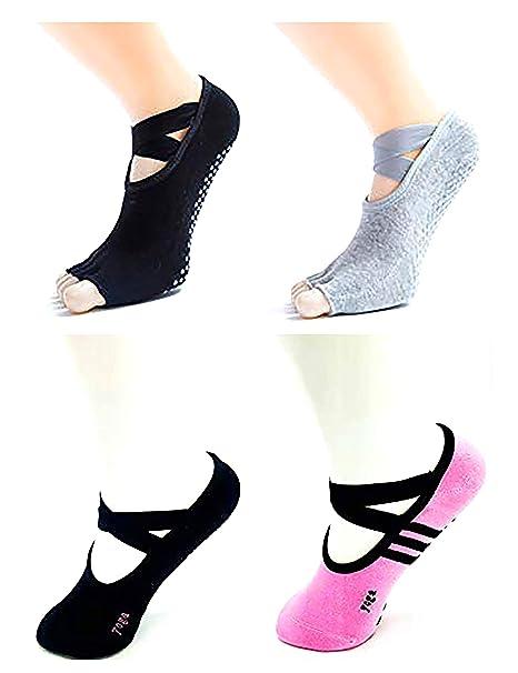 Yoga Socks for Women with Grip & Non Slip Skid for Barre Ballet Pilates Fitness Dance