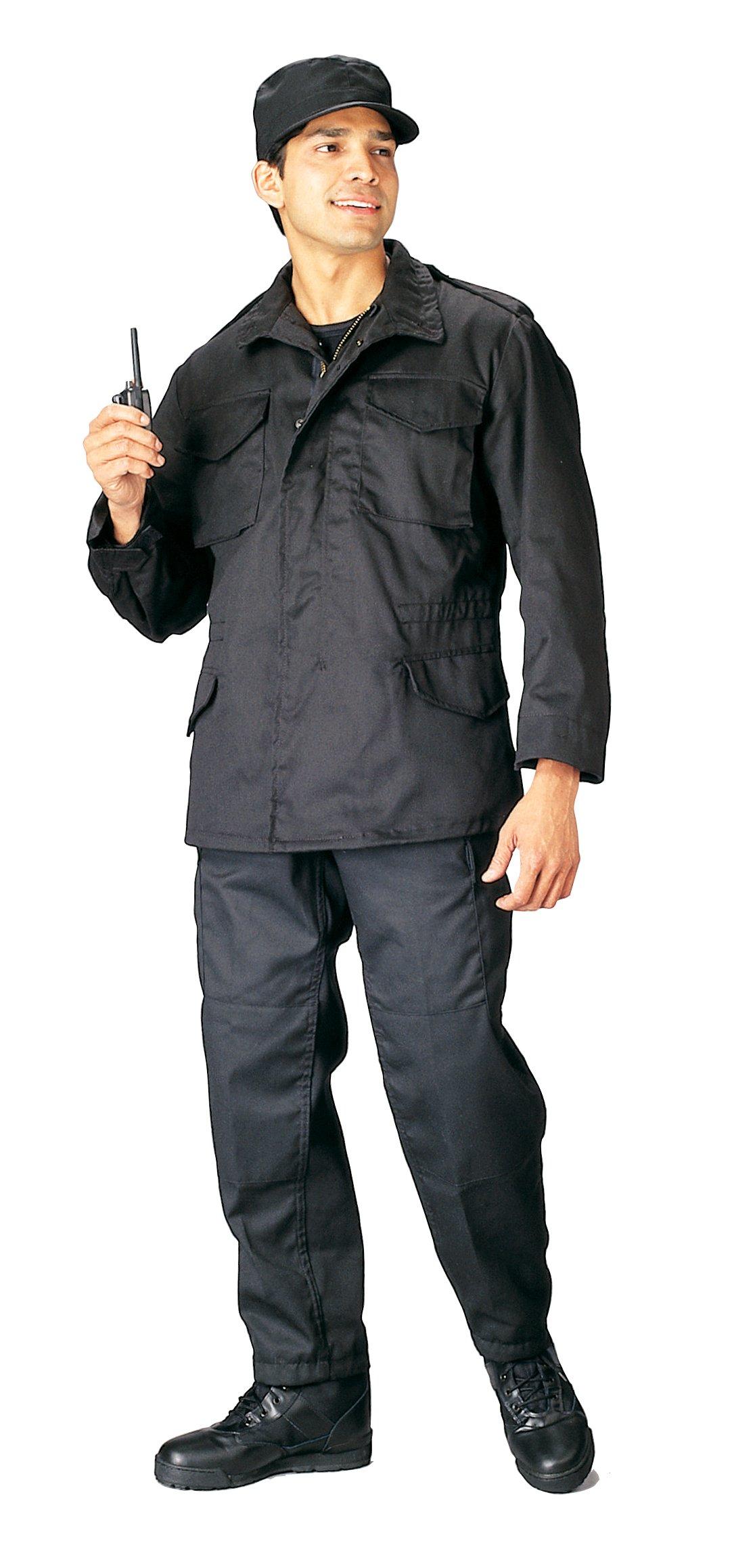 Rothco M-65 Field Jacket, Black/8X