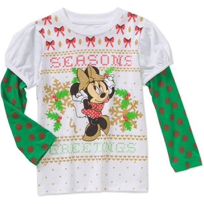 disney minnie mouse seasons christmas toddler little girls t shirt 3t