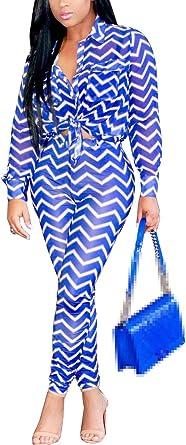 Mujer Set Blusas Y Elegantes Casual Largo Modernas Pantalon Vintage Fashion Casual Ondas Estampadas 2 Juegos Manga Larga De Solapa Slim Fit Crop Top Lapiz Pantalones Amazon Es Ropa Y Accesorios