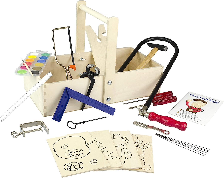 Kinderwerkzeug echt - PEBARO Laubsäge-Schreinerkasten - Peitz Werkbank