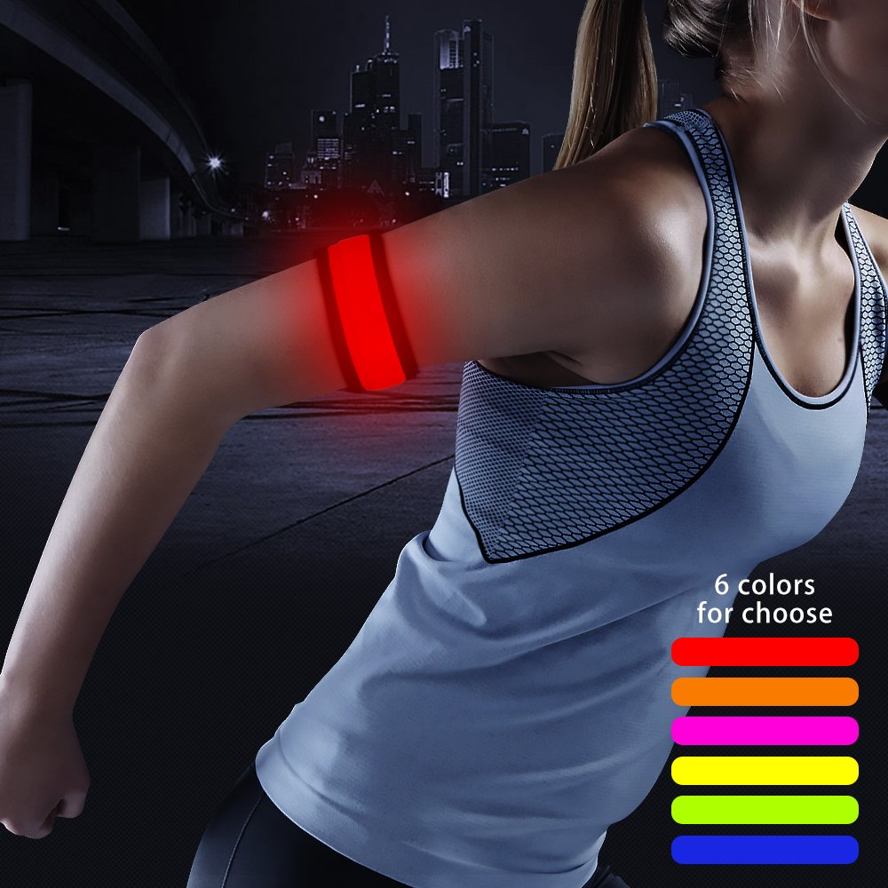 Higo LED Snap Bracelet Glowing Armband for Running Cycling Jogging Dog Walking Concert Events Yuansen HGS02