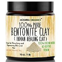 Molivera Organics Bentonite Clay for Detoxifying and Rejuvenating Skin and Hair,...