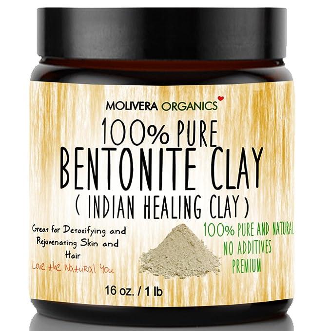 Molivera Organics Bentonite Clay for Detoxifying and Rejuvenating Skin and Hair