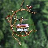 Arystk Hummingbird Feeder Bird Berries Feeders Feeding Ports for Outdoors Deck Hanging Tree Handmade Bird Feeders Patio Garde