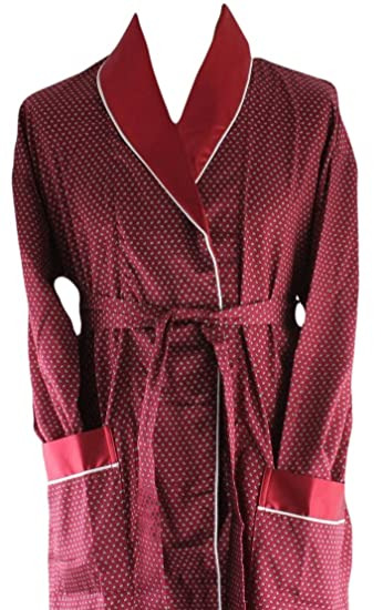 Bown Of London Mens Mayfair Lightweight Dressing Gown Burgundy