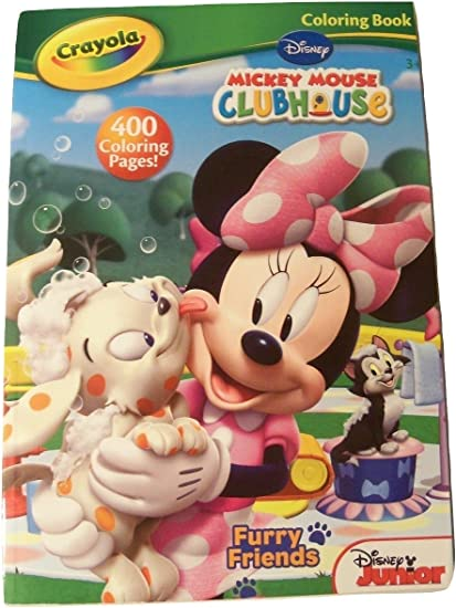 - Amazon.com: Disney Crayola 400 Page Coloring & Activity Book Featuring  Junior Mickey Mouse Clubhouse ~ Furry Friends!: Toys & Games