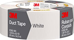 3M Scotch Duct Tape,1.88-Inch by 60-Yard - White, 1 Pack