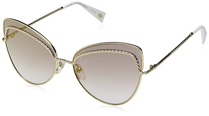 f1c2fb351c11 Image Unavailable. Image not available for. Color: Marc Jacobs Women's  Marc255s Cateye Sunglasses GOLD 61 mm