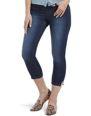 b934ce15a2c4d HUE Women's Ultra Soft Denim Jean Capri Leggings