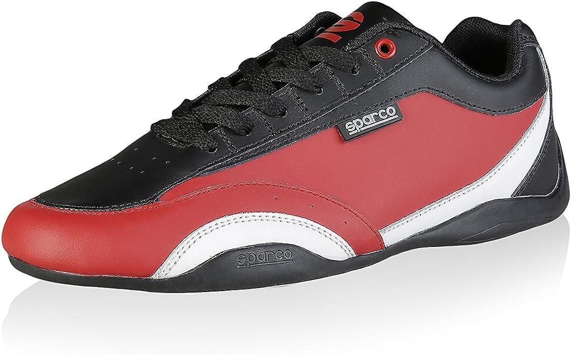 Sparco Mens Sneakers ZANDVOORT - Red Black - 40