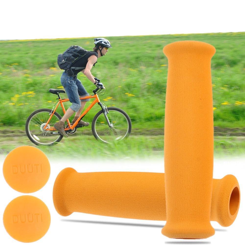 1 par Domybest Espuma Suave Esponja Bicicleta Manija Pu/ños Bicicleta Manillar Barra Apretones