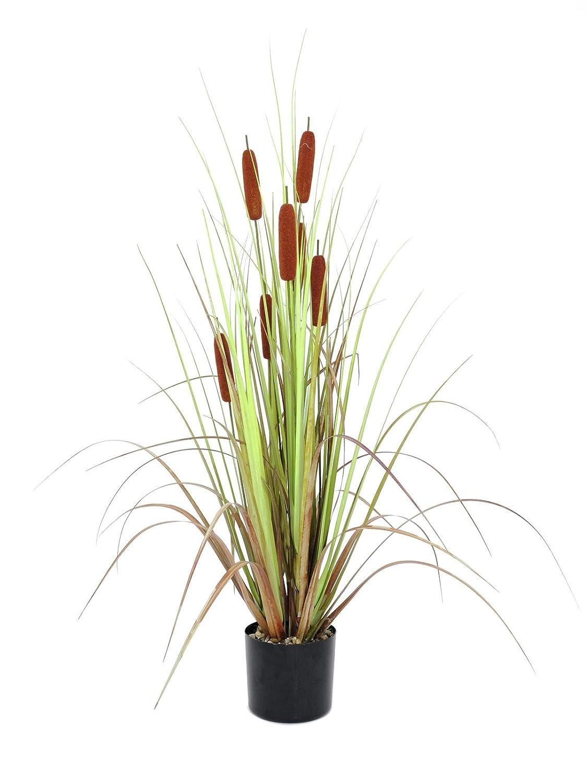 Hierba de carrizo artificial con 7 juncos, 120 cm - mata / planta artificial - artplants