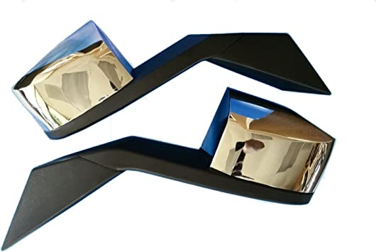 SCITOO Pair Chrome Truck Hood Mirrors fit 2004-2016 Volvo VNL 2004 Volvo VN Set Mounting Plates Tow Mirrors