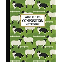 Wide Ruled Composition Notebook: Border Collie Hard at Work Composition Notebook for school, work, or home! Keep your notes organized and handy, ... (Dog Lovers Composition Notebooks, Band 3)