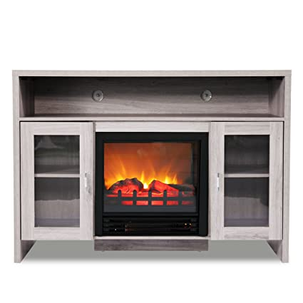 Amazon Com Jaxpety 42 5 Large Electric Fireplace Tv Stand
