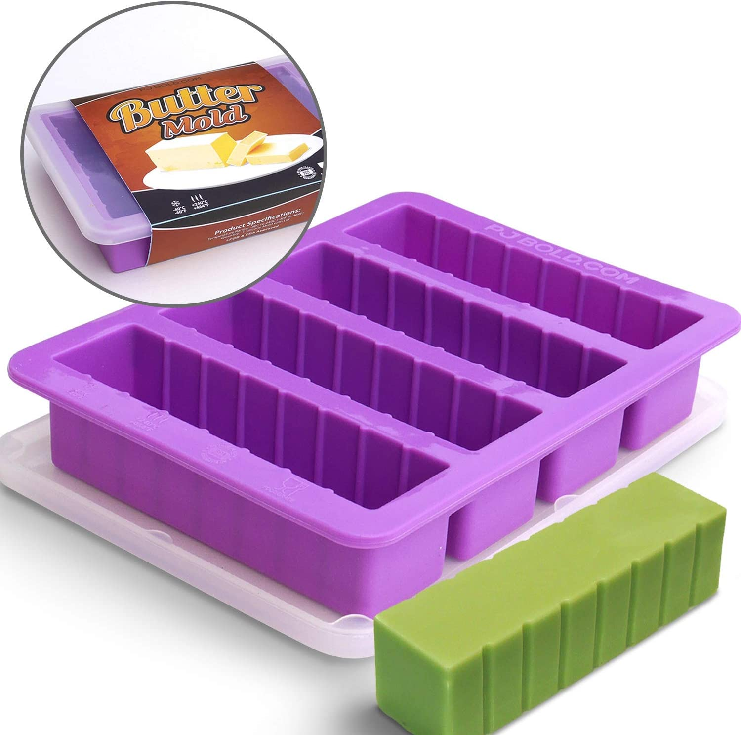 Butter Mold - Silicone - With Lid