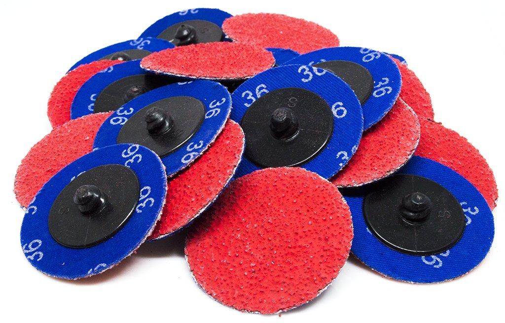 "2"" Roloc Ceramic Quick Change Sanding Discs 80 Grit - 25 Pack"