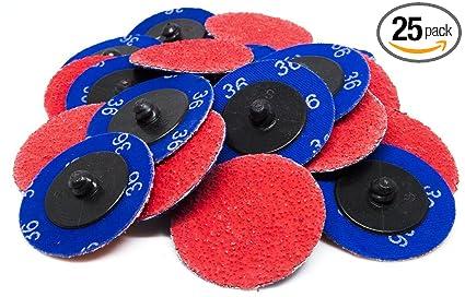 """50-3/"""" Roloc Zirconia Quick Change Sanding Disc 40 Grit and Mandrel"""