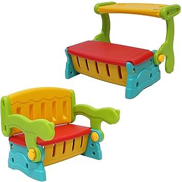 Clamaro \'SwitchBench\' 2in1 Kinder Sitztruhe mit Klapptisch oder ...