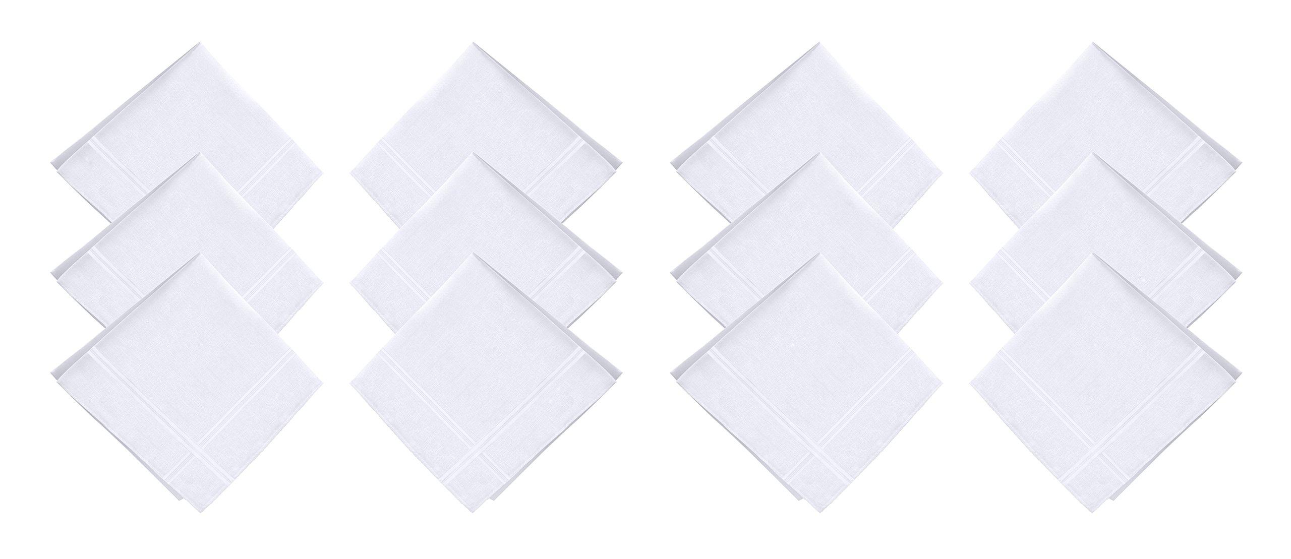 JFL - 100% Pure Cotton Color Strips Handkerchiefs for Men & Boys