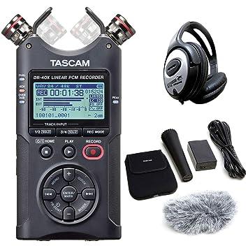 keepdrum Kopfhörer Tascam DR-44WL Audio Recorder AK-DR11GMK2 Zubehör Set