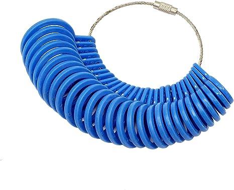cnmade 27 piezas de plástico anillo sizer medidor de dedo joyas Kit ...