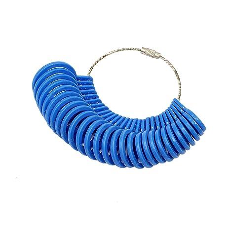 cnmade 27 piezas de plástico anillo sizer medidor de dedo joyas Kit Herramienta de medición de