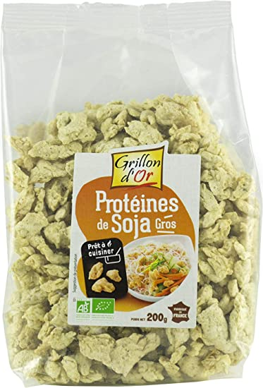 Proteínas de soja orgánicas.