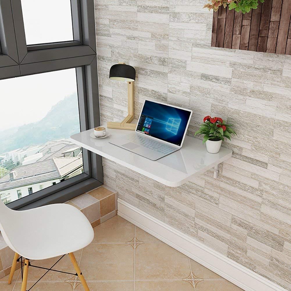 NewbieBoom-Lapdesk drop-down väggbord fällbart matbord arbetsrum skrivbord bladformat miljöskydd bord, tjocklek 2,5 cm, vit (storlek: 100 x 50 cm) 90x40cm 70x40cm