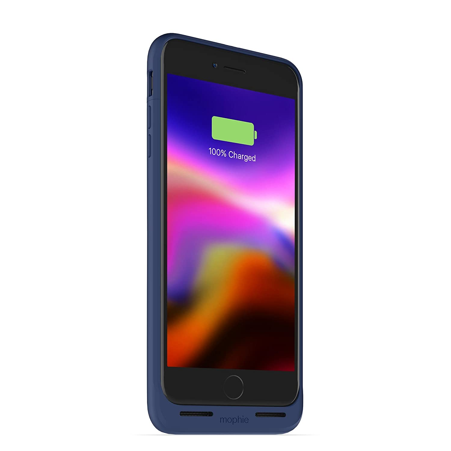 Charge Force Wireless Power Charging Protective Battery Pack Case for iPhone 8 Plus Mophie Juice Pack Wireless Blue