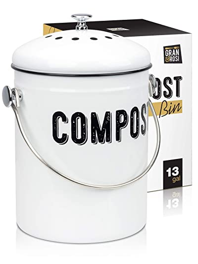 Granrosi Stylish Farmhouse Kitchen Compost Bin