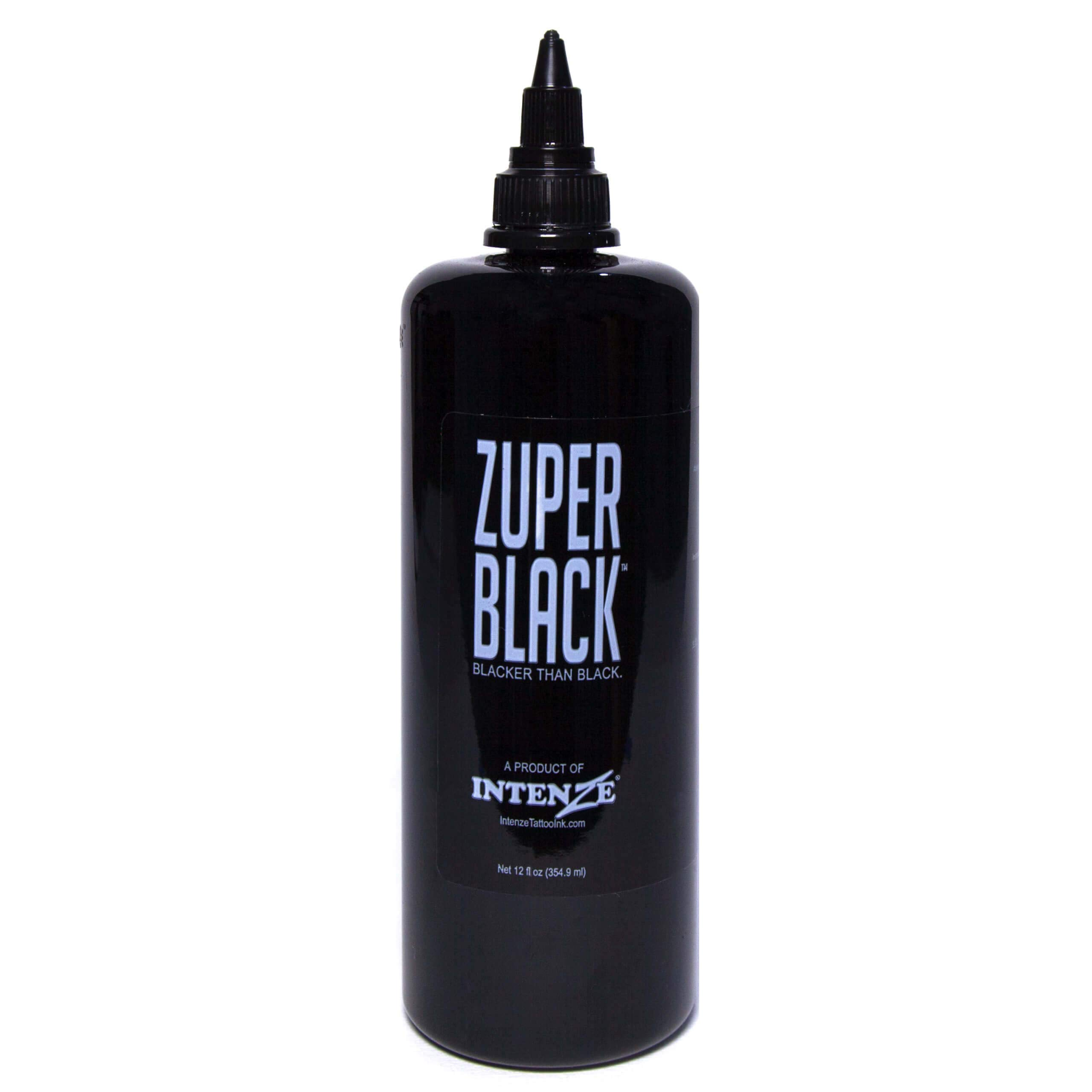 Intenze Professional Tattoo Ink Zuper Black 12 oz by Intenze