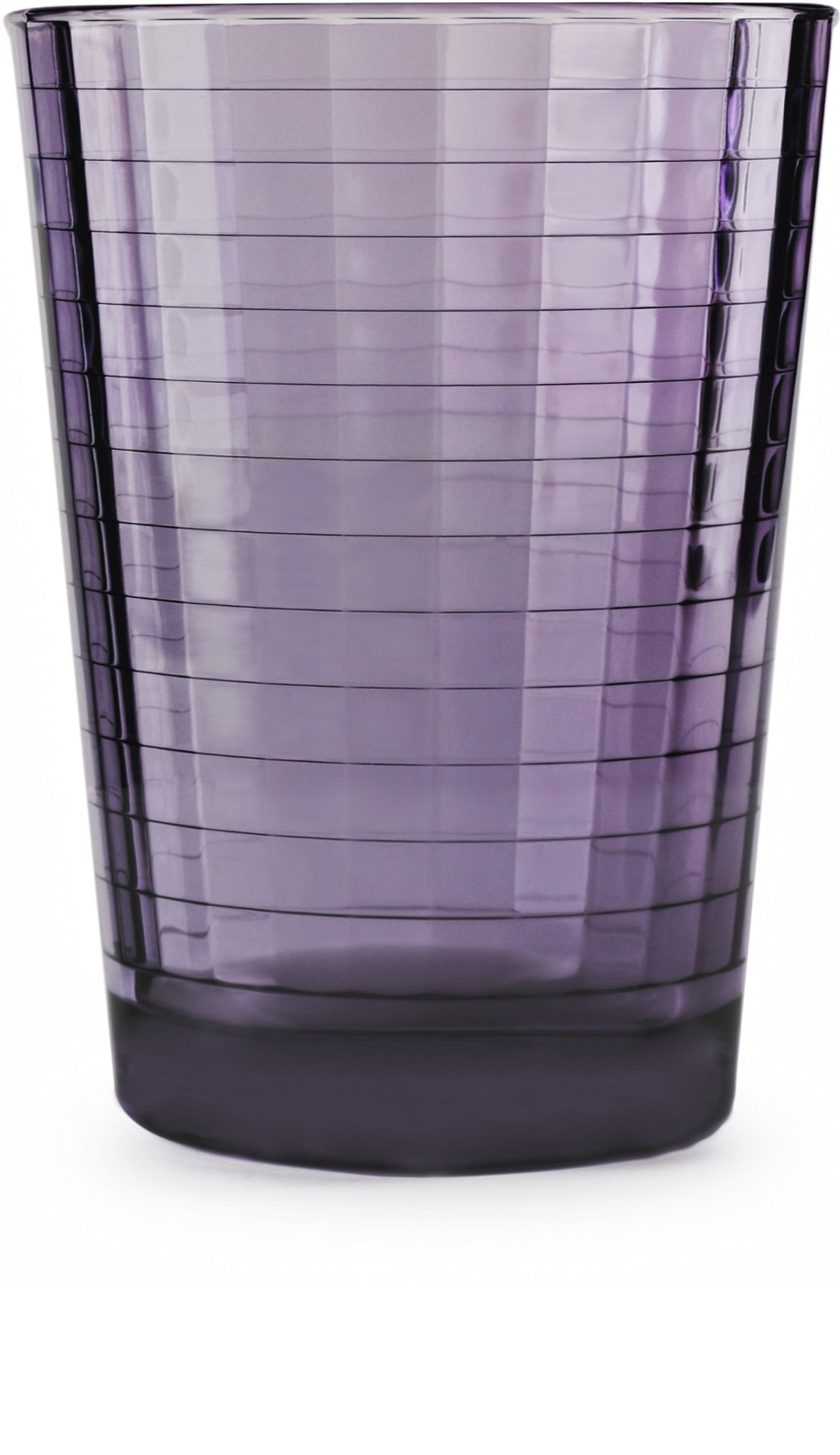 Circleware 44820 Windowpane Plum Beverage Juice Drinking Glasses, Set of 4, 7 Ounce