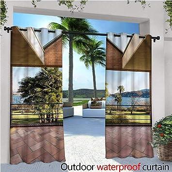 Cortina de privacidad para pergola de Cristal, Mosaico, Termo Aislante, Repelente al Agua, para balcón: Amazon.es: Jardín
