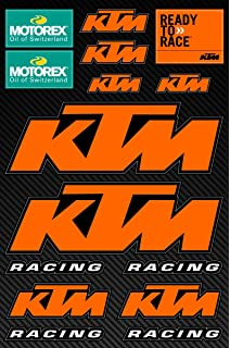KTM Decals Stickers Motorcycle Motorex Motocross Vinyl Graphic Set